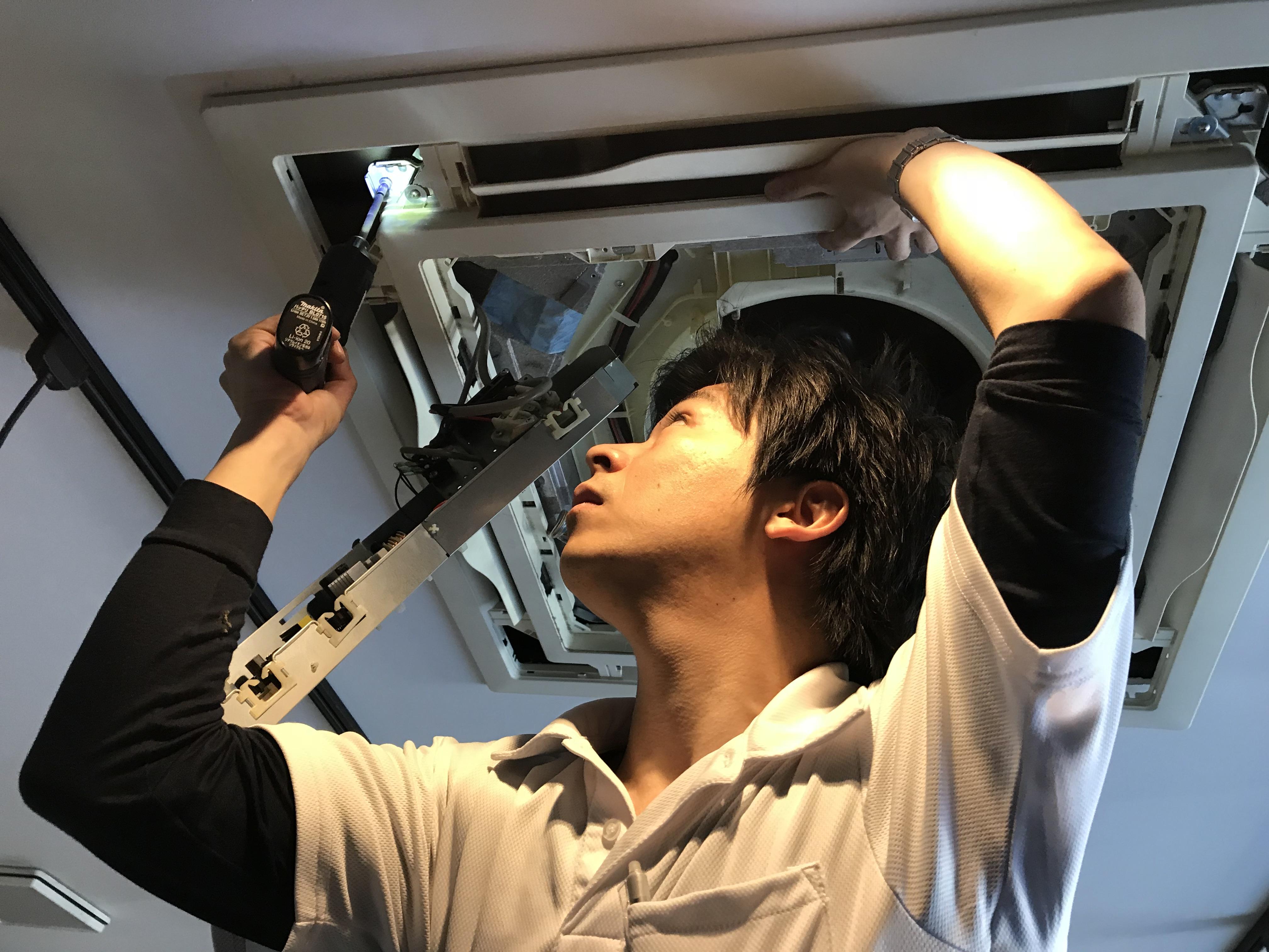 天井埋込型クリーニング